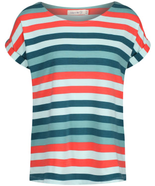 Women's Lily & Me Weekend Tee - Teal Multi