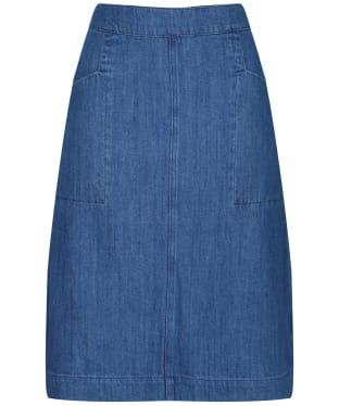 Women's Seasalt Pitching Skirt - Mid Wash Indigo