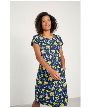 Women's Seasalt River Cove Dress - Climbing Blooms Yacht