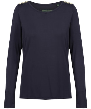 Women's Holland Cooper Long Sleeve Crew Neck Tee - Ink Navy