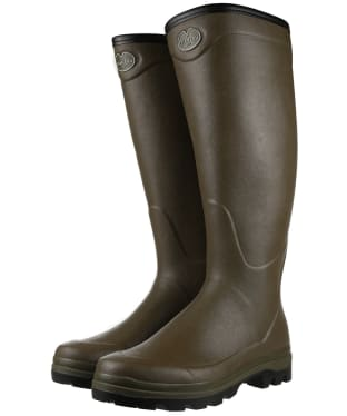Men's Le Chameau Country Cross Jersey Wellington Boots - Vert Chameau