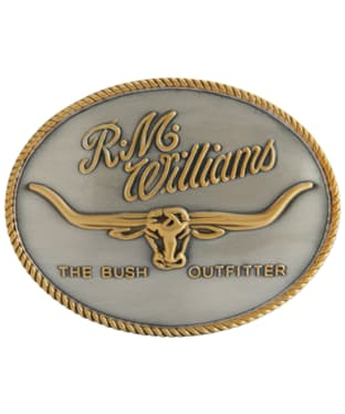 R.M. Williams Logo Buckle - Silver / Gold