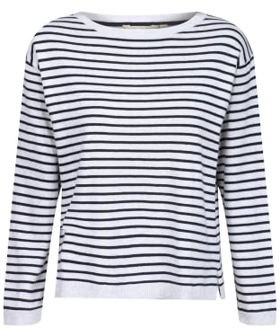 Women's Lily & Me Meadow Stripe Jumper - Silver Marl/Navy Stripe