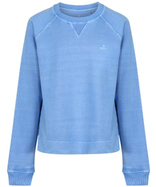 Women's GANT Sunfaded Crew Neck Sweater - Pacific Blue