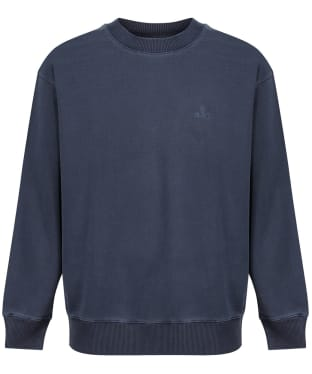 Men's GANT Sunfaded Crew Neck Sweater - Deep Ocean Blue