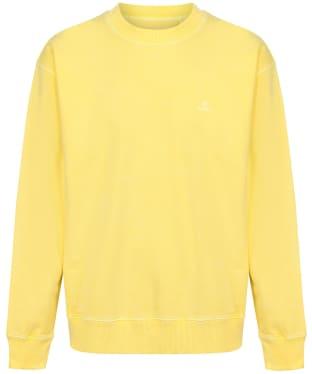 Men's GANT Sunfaded Crew Neck Sweater - Brimstone Yellow