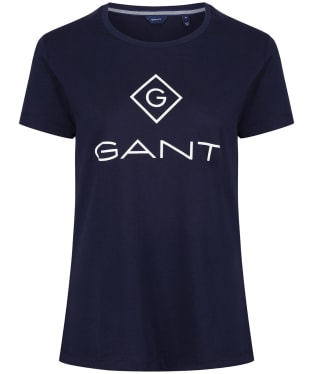 Women's GANT Lock Up T-Shirt - Evening Blue