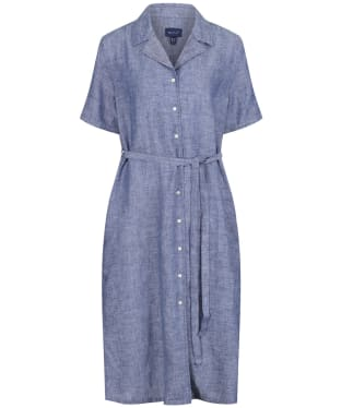 Women's GANT Linen Chambray Shirt Dress - Persian Blue