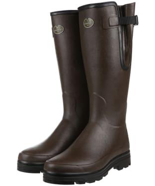 Men's Le Chameau Vierzonord Neo Wellington Boots - 41 cm calf - Marron Fonce