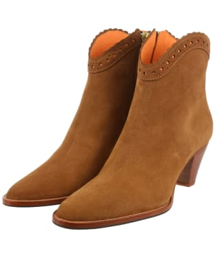 Women's Fairfax & Favor Regina Ankle Boot - Tan Suede