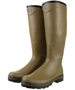 Men's Le Chameau Country Cross Jersey Wellington Boots - Vert Vierzon
