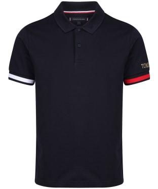 Men's Tommy Hilfiger Flag Cuff Slim Polo Shirt - Desert Sky