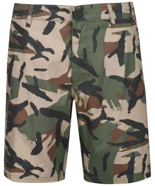 Men's Globe Any Wear Shorts - Olive Camaflage