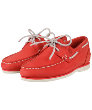 Women's Timberland Earthkeepers® Classic Amherst 2-Eye Boat Shoes - Dark Pink Nubuck