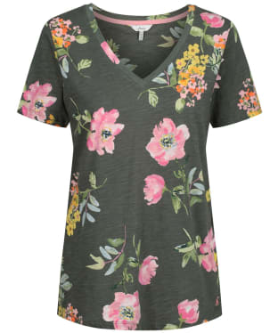 Women's Joules Celina Print T-Shirt - Green Floral