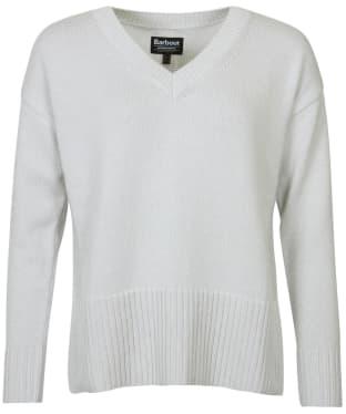 Women's Barbour International Manali Knit - Ice White