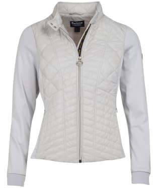 Women's Barbour International Hallstatt Sweater Jacket - Ice White