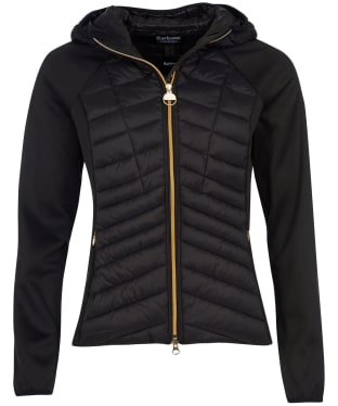 Women's Barbour International Carnaby Sweater Jacket - Black