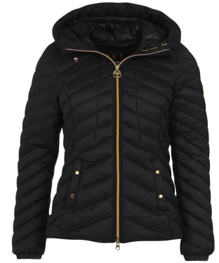 Women's Barbour International Sitka Quilted Jacket - Black