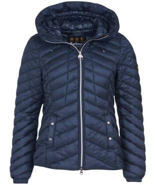 Women's Barbour International Sitka Quilted Jacket - Metallic Blue