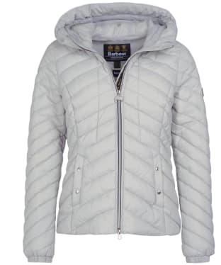 Women's Barbour International Sitka Quilted Jacket - Ice White