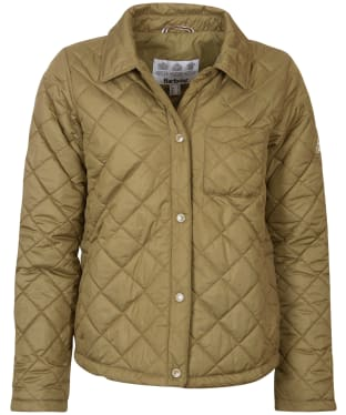 Women's Barbour Blue Caps Quilted Jacket - Dusky Green
