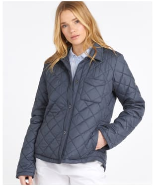Women's Barbour Blue Caps Quilted Jacket - Summer Navy