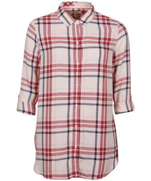 Women's Barbour Baymouth Shirt - OYSTER PINK CHK