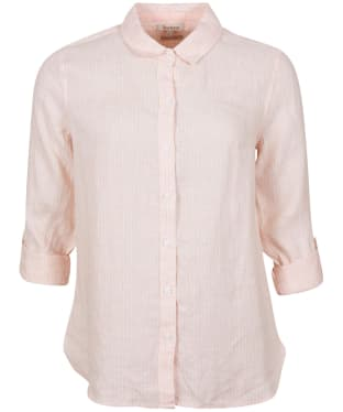 Women's Barbour Marine Shirt - OYSTER PINK/WHT
