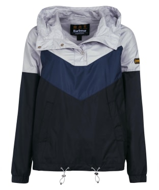 Women's Barbour International Solitude Showerproof Jacket - Black / Ice White
