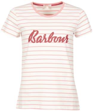 Women's Barbour Keilder Tee - CLOUD/PEACH ROS