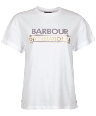 Women's Barbour International Sitka Tee - White