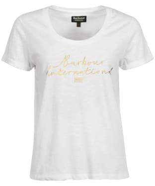 Women's Barbour International Hallstatt Tee - White