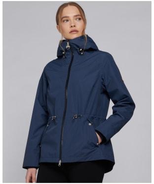 Women's Barbour International Manato Waterproof Jacket - Metallic Blue