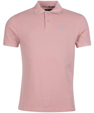 Men's Barbour Tartan Pique Polo Shirt - Faded Pink