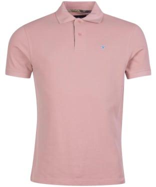 Men's Barbour Tartan Pique Polo Shirt - Faded Pink