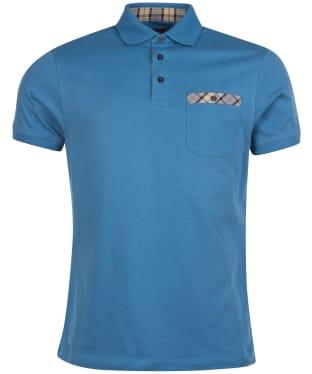 Men's Barbour Tartan Pocket Polo Shirt - Pigment Blue
