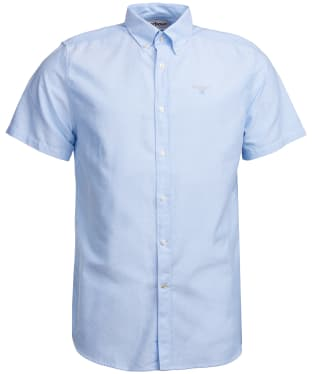 Men's Barbour Oxford 3 Short Sleeved Tailored Shirt - Sky