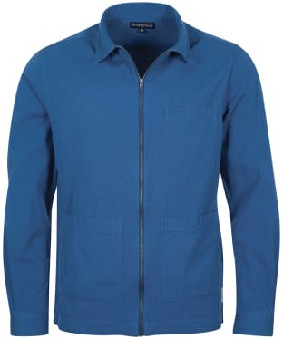 Men's Barbour Saltburn Overshirt - Ensign Blue