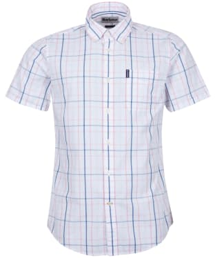 Men's Barbour Tattersall 18 S/S Tailored Shirt - Faded Pink Check