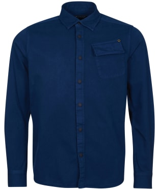Men's Barbour International Garment Dyed Shirt - Dress Blue