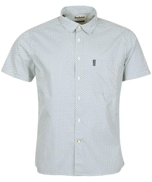 Men's Barbour Summer Print 12 S/S Summer Shirt - Antique White Print