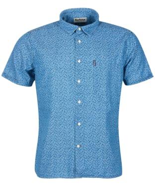 Men's Barbour Summer Print 13 S/S Summer Shirt - Chambray Print