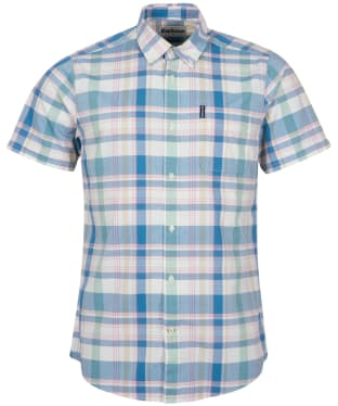 Men's Barbour Highland Check 55 S/S Tailored Shirt - Pigment Blue Check