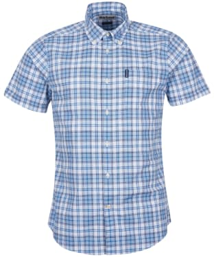 Men's Barbour Country Check 22 S/S Tailored Shirt - Pigment Blue Check
