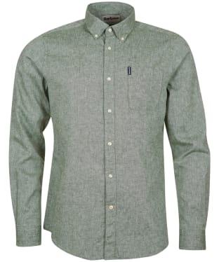 Men's Barbour Linen Mix 7 Tailored Shirt - Green