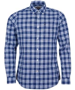 Men's Barbour Linen Mix 8 Tailored Shirt - Indigo Check