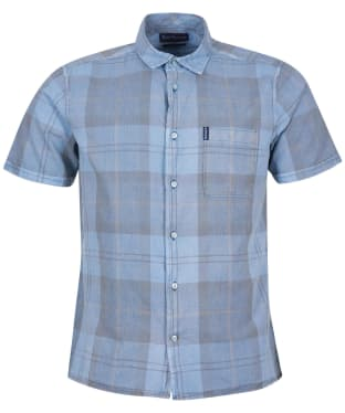 Men's Barbour Tartan 17 S/S Summer Shirt - Pigment Blue