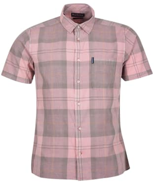 Men's Barbour Tartan 17 S/S Summer Shirt - Faded Pink