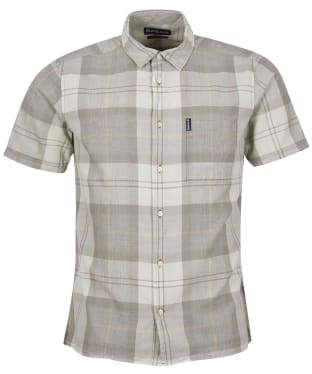 Men's Barbour Tartan 17 S/S Summer Shirt - Stone